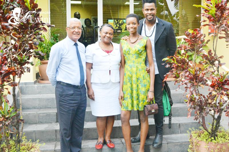 Maria Borges Modelo internacional visitou a fundação lwini